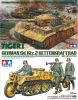 "Tamiya 25401+35377 1/35 Tiger I ""Late Production"" w/Ace Commander & Crew Set + Tamiya 35377 1/35 Sd.Kfz.2 Kettenkraftrad (Mid Production)"